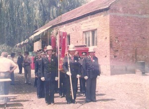 Official flag delivery ceremony in 1979